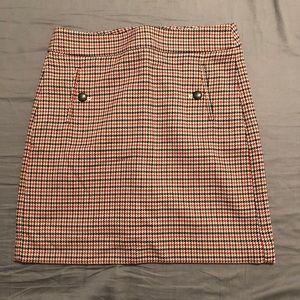 Fall tweed patterned Ann Taylor Loft Skirt